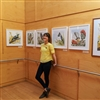 Emma-Kate Moore with her exhibition at ZEALANDIA, by Patrick Dodson